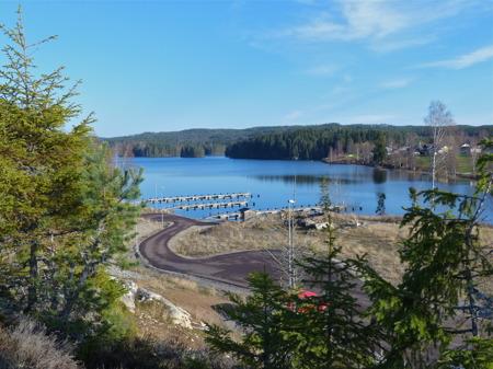 Utsikt från Prästnäset mot sjön Töck.