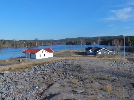På norra delen av Prästnäset finns nu tre villor.