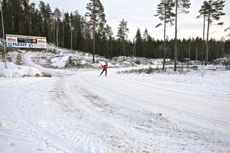 31 december 2015 - 1 km välpreparerade spår.