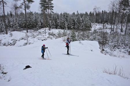 5 januari 2016 - Det är möjligt att åka skidor på stora delar av spårområdet.