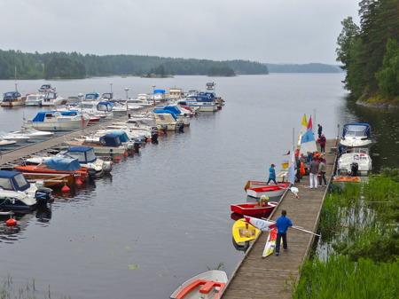 Resten av torsdagen tränade man segling inför fredagens avslutande seglingsrace.