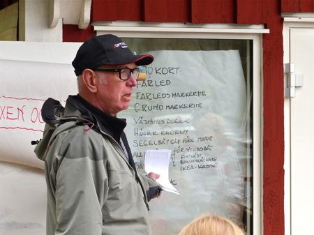 Fredagen började med genomgång av termer och regler för båtliv som deltagarna lärt sig under veckan.