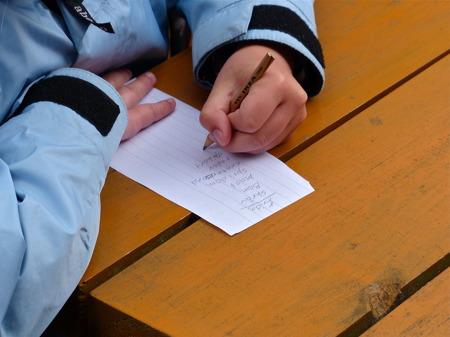 Uppgiften att skriva ner så många termer och regler för båtliv som man kunde komma ihåg togs på fullt allvar.