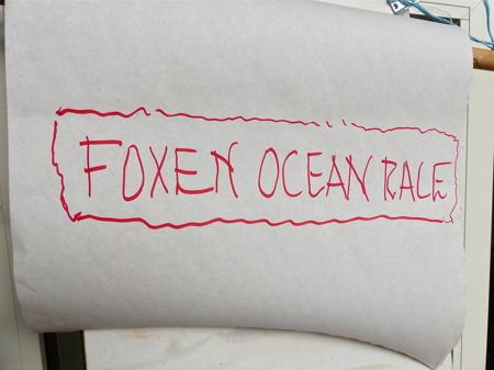 Så var det dags för examensprovet - Foxen Ocean Race.