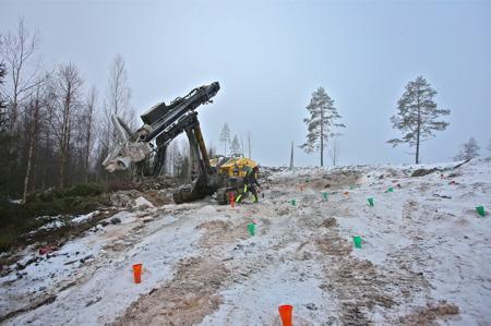 18 januari 2017 - Sista hålet är borrat.