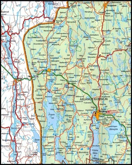 © Norstedts kartor www.norstedts.se - klicka på bilden för större karta.