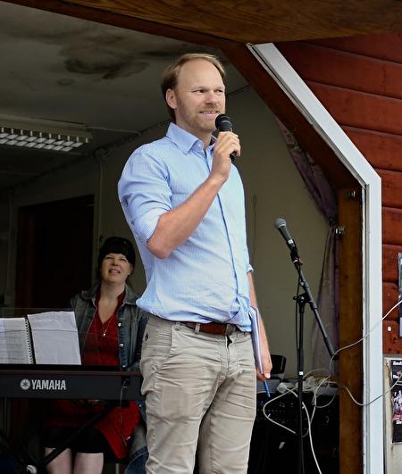 Så var det dags för programpunkten Talang. Tony Nilsson presenterade deltagarna.