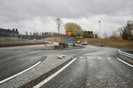 17 oktober 2017 - Nya rondellen vid Älverud.