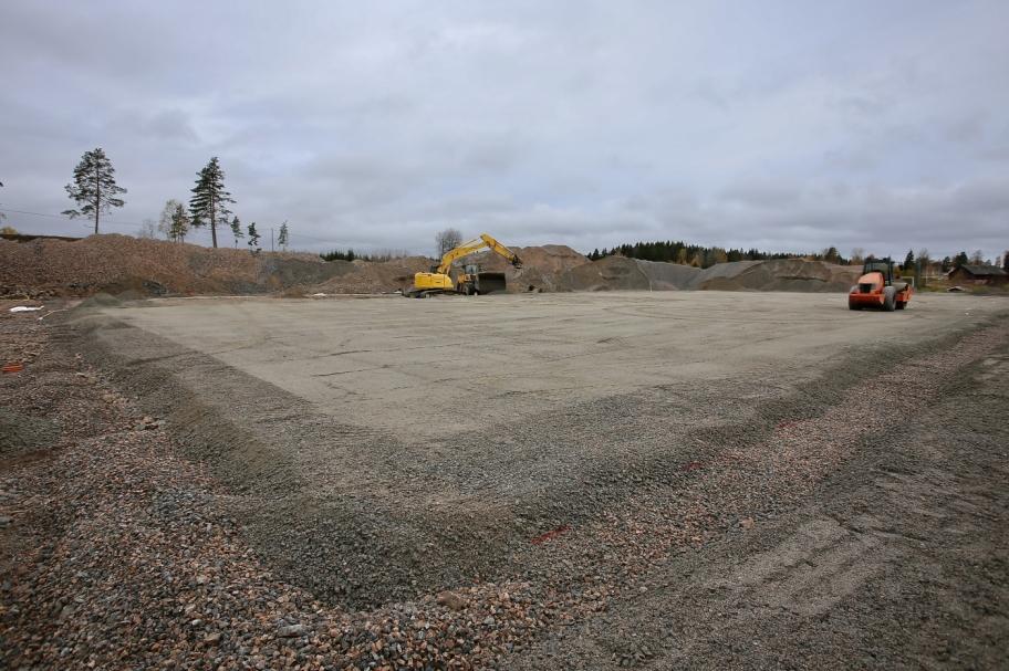 20 oktober 2017 - Nu börjar man ana utformningen av nya konstgräsplanen vid Hagavallen.