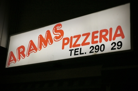 Arams - Pizzarestaurangen vid torget i Töcksfors.