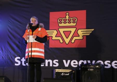 Elin Bustnes Amundsen, projektledare för nya E18 i Marker.
