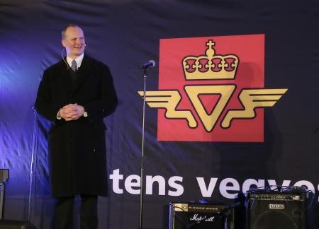 Samferdselsminister Ketil Solvik-Olsen talade.
