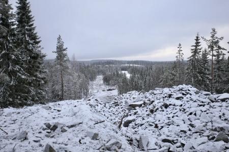 12 januari 2018 - Utsikt från Joarknatten söderut där vindkraftverken nr 7 och 8 skall stå.