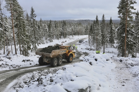 8 januari 2018 - Inspektion av arbetet på Joarknatten, med bl a NVE - Norges vassdrags- og energidirektorat på plats.