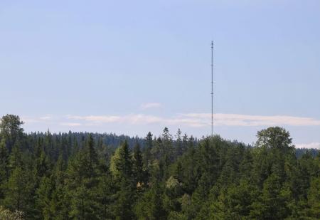 Masten har stått vid Högås flera år, med utrustning för att mäta vinden inom området.