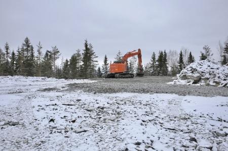 6 mars 2018 - Här skapas arbetsytan där vindkraft-verk nr 6 skall stå.