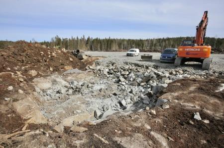 11 april 2018 - Här skall fundamentet för vindkraftverk 8 byggas.