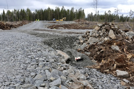 27 april 2018 - Kabelväg mot fundament 8.