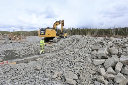 27 april 2018 - Kabelväg till fundament 8.