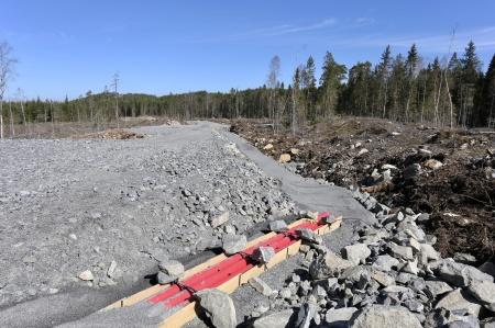 7 maj 2018 - Kabelväg vid fundamentet för vindkraftverk 8.