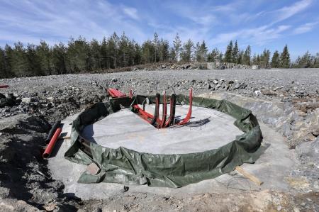 7 maj 2018 - Förberedelse för armering och gjutning av fundamentet för vindkraftverk 6.