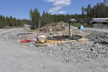 24 maj 2018 - Gjutning av fundament 7.