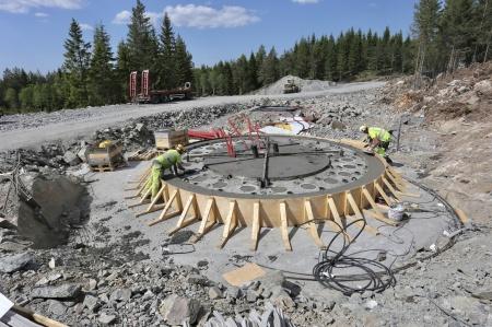 24 maj 2018 - Gjutningen av fundament 7 är klar.