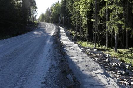 5 juni 2018 - Transportväg och kabelväg.