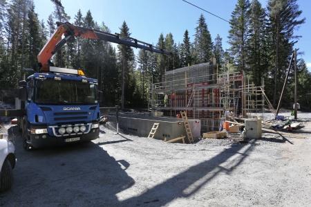 5 juni 2018 - Byggnation av transformatorstation.