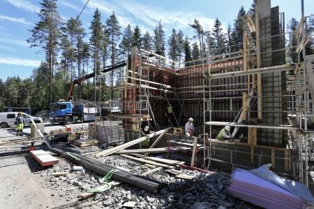 5 juni 2018 - 5 juni 2018 - Byggnation av transformatorstation.