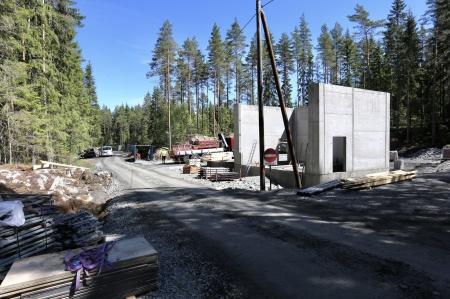 12 juni 2018 - Nya transformatorstationen färdigställs.