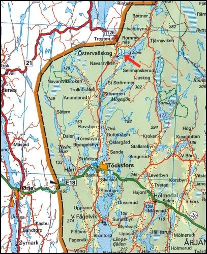 © Norstedts kartor www.norstedts.se  Klicka på bilden för större karta.