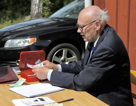Sven Emsell kassör i Fornminnesföreningen.