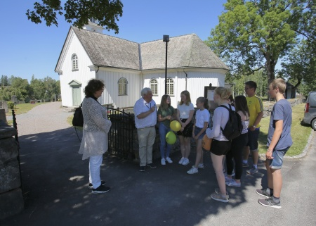 Runar Patriksson visade Töcksmarks kyrka.
