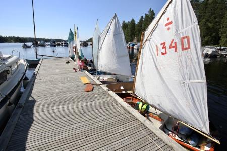 I Sandviken pågick seglarskolan under veckan.