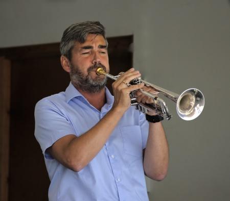 Hans Åke Karlsson spelade trumpet.