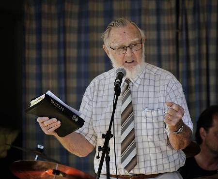 Roland Moberg predikade.