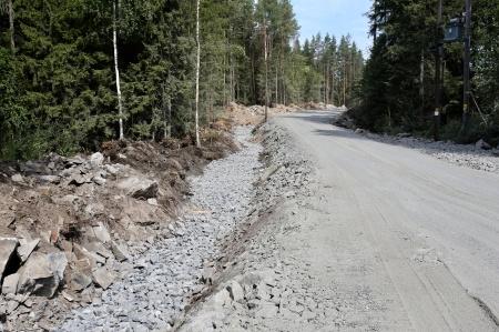 25 juli 2018 - Här byggs kabelväg mot Örje.