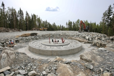18 juli 2018 - Gjutningen av fundament 9 är klar.