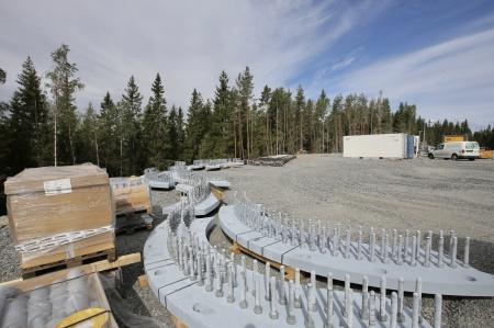 6 augusti 2018 - Stålkonstruktioner till fundamenten.