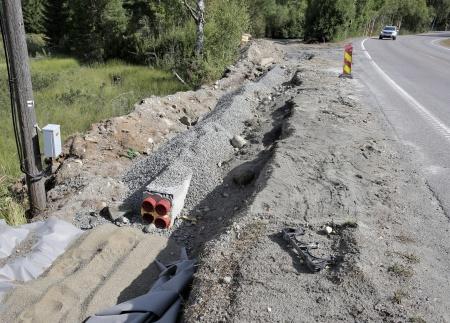 2 augusti 2018 - Kabelväg mot Örje.