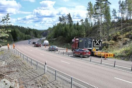 21 augusti 2018 - Avverkning av skog för att ge plats för vändöglan vid bergtäkten.