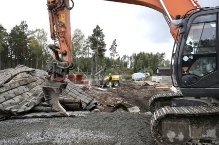 24 augusti 2018 - Borrning och sprängning vid Kölen sportcenter.