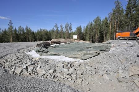 2 september 2018 - Gjutningen av bottenplattan till fundamentet för vindkraftverk 11 är klar.