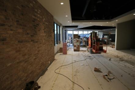 3 januari 2019 - Nu byggs Burger King´s nya restaurang vid Shoppingcentrets nya huvudentré.