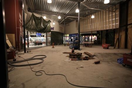 8 januari 2019 - Gamla entréhallen byggs om.