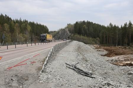 25 april 2019 - Här byggs nya påfarten til E18.