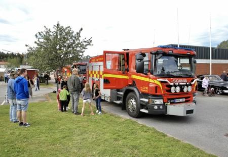 Räddningstjänsten kom på besök.