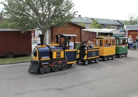 Tåget körde rundturer i Töcksfors centrum.