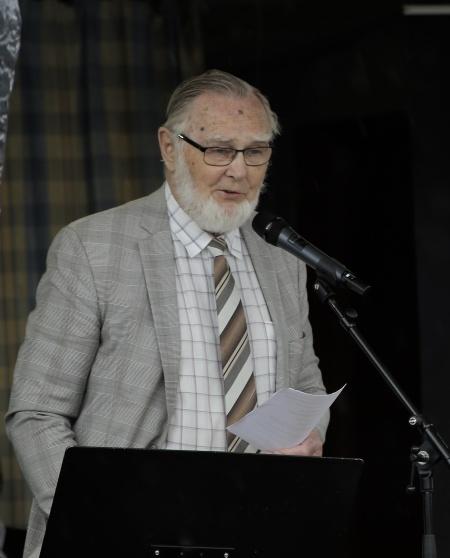 Roland Moberg höll predikan.